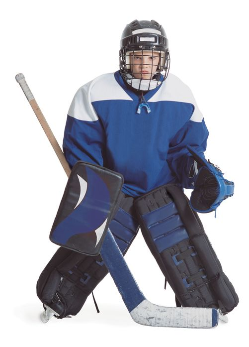 safety gear for hockey goalie