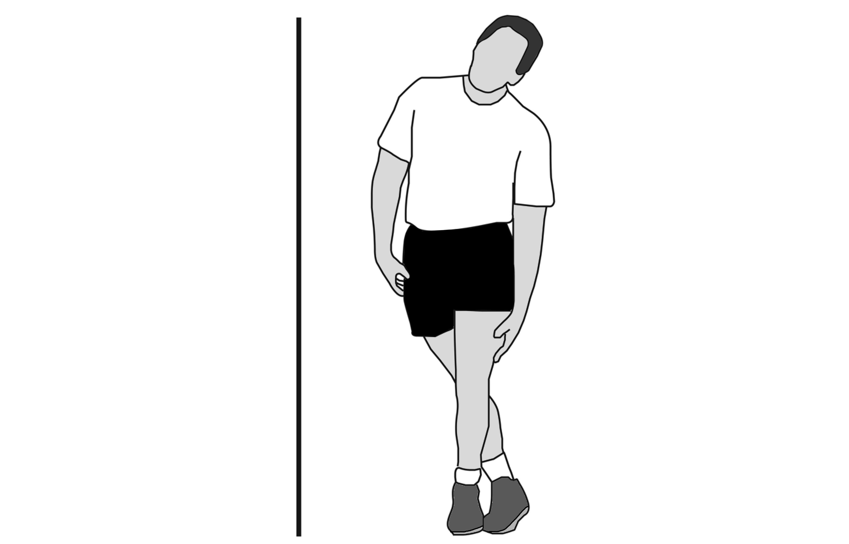 Standing iliotibial band stretch