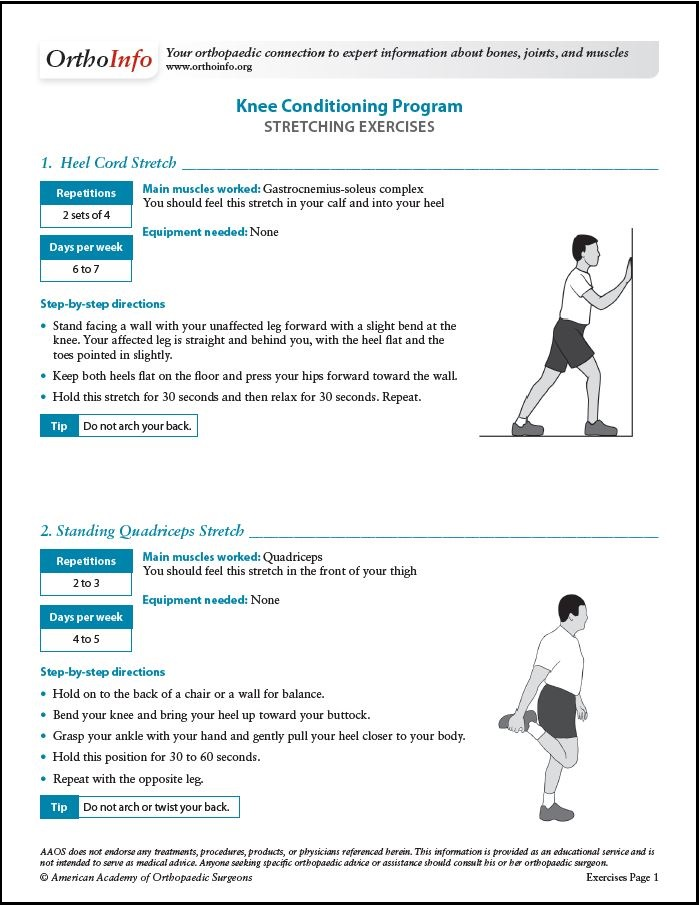 Knee Conditioning Program - OrthoInfo - AAOS