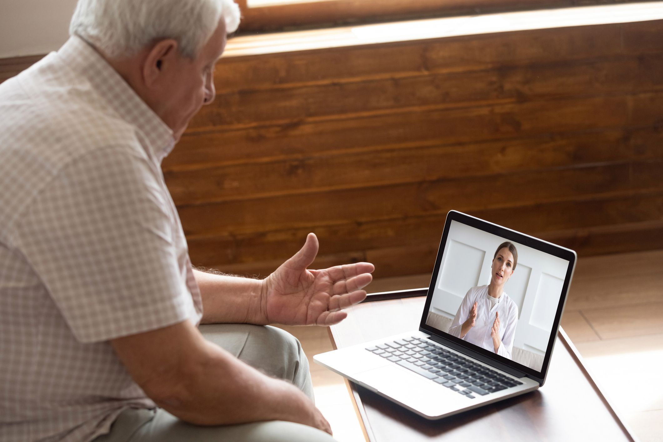 doctor-patient video teleconference