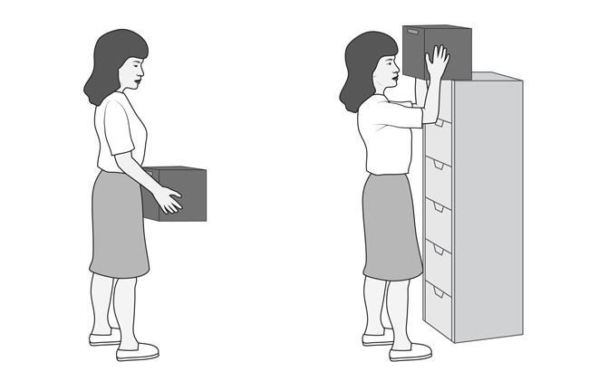 Placing an object on a shelf