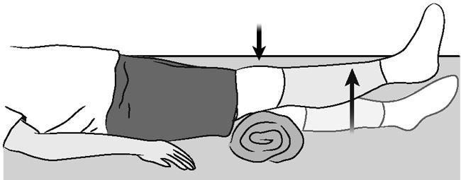 Terminal knee extension, supine